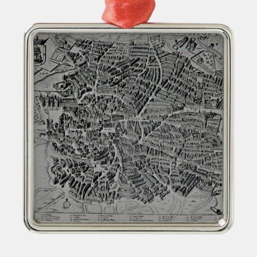 Map of Madrid Christmas Tree Ornament