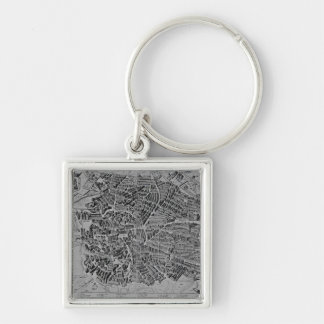 Map of Madrid Key Ring