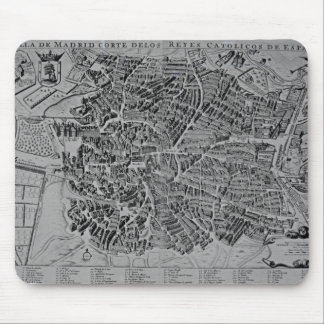 Map of Madrid Mouse Mat