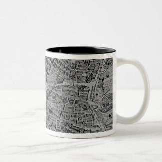 Map of Madrid Two-Tone Coffee Mug