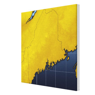 Map of Maine Canvas Print