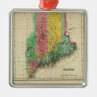 Map Of Maine Christmas Ornament