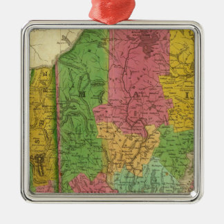 Map of Maine, New Hampshire, and Vermont Christmas Ornament