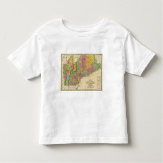 Map of Maine New Hampshire And Vermont Toddler T-Shirt