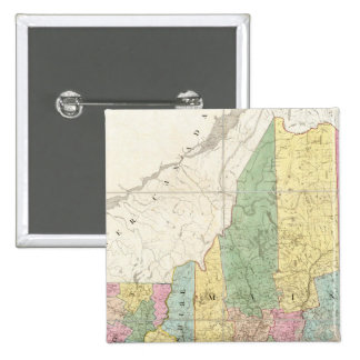 Map of Maine, New Hampshire, Vermont 15 Cm Square Badge