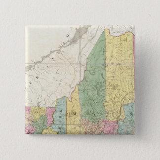 Map of Maine, New Hampshire, Vermont 15 Cm Square Badge
