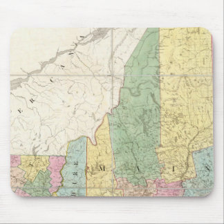 Map of Maine, New Hampshire, Vermont Mouse Mat