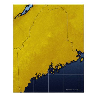 Map of Maine Poster