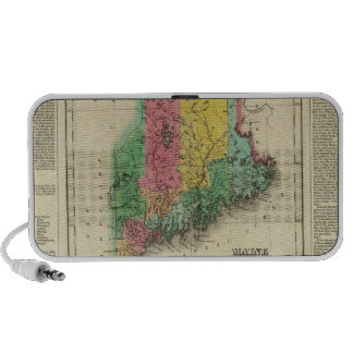 Map Of Maine Mp3 Speakers
