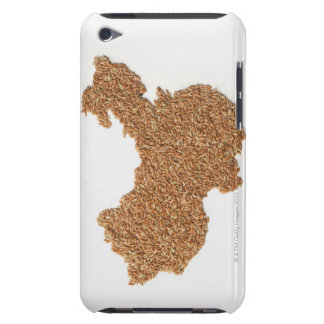 Map of Mainland China made of Glutinous Rice Barely There iPod Cases