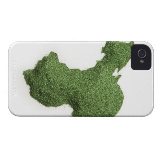 Map of Mainland China made of grass Case-Mate iPhone 4 Cases