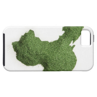 Map of Mainland China made of grass iPhone 5 Cases