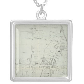 Map of Manasquan, New Jersey Silver Plated Necklace