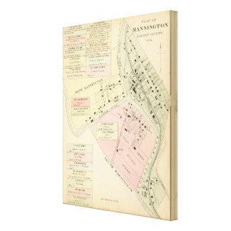 Map of Mannington, West Virginia Canvas Print