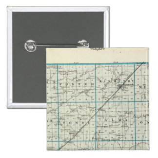 Map of Marion County 15 Cm Square Badge