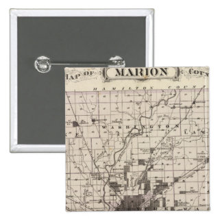 Map of Marion County 2 15 Cm Square Badge