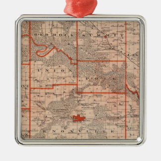 Map of Marion County, State of Iowa Christmas Ornament