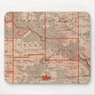 Map of Marion County, State of Iowa Mouse Mat