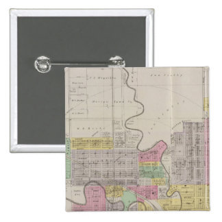 Map of Marion, Marion County, Kansas 15 Cm Square Badge
