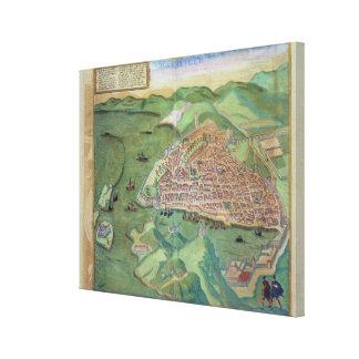 Map of Marseilles, from 'Civitates Orbis Terrarum' Canvas Print