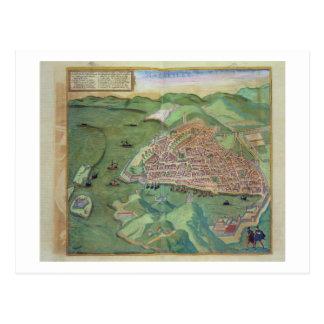 Map of Marseilles, from 'Civitates Orbis Terrarum' Postcard