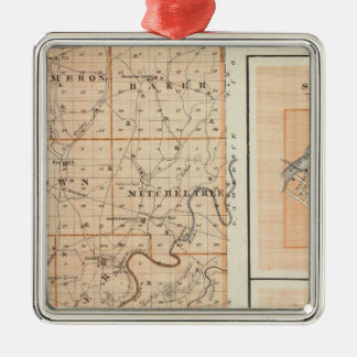 Map of Martin County with Shoals, Loogootee Christmas Ornament