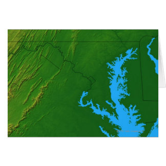 Map of Maryland 2 Card