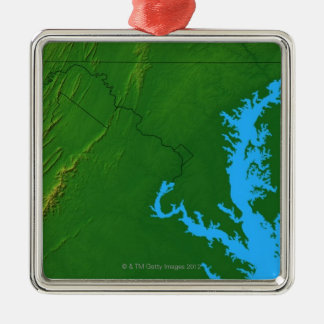 Map of Maryland 2 Christmas Ornament