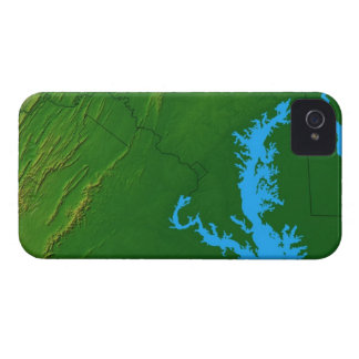 Map of Maryland 2 iPhone 4 Cases