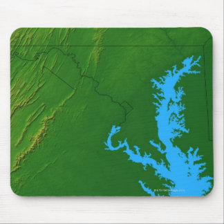 Map of Maryland 2 Mouse Mat