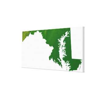 Map of Maryland 3 Canvas Print