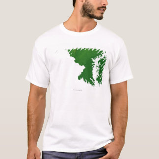 Map of Maryland 3 T-Shirt
