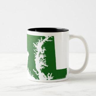 Map of Maryland 3 Two-Tone Coffee Mug