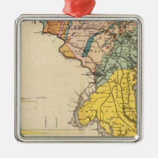 Map of Maryland and the District of Columbia Christmas Ornament