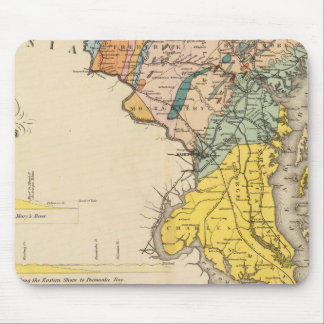Map of Maryland and the District of Columbia Mouse Pad