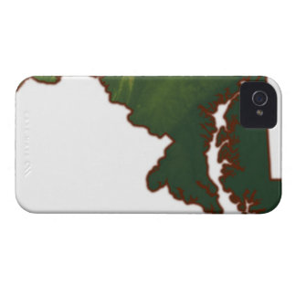 Map of Maryland iPhone 4 Cover