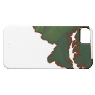 Map of Maryland iPhone 5 Cases