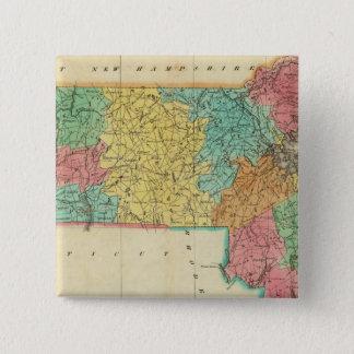 Map Of Massachusetts 15 Cm Square Badge