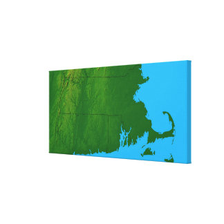 Map of Massachusetts 2 Canvas Print