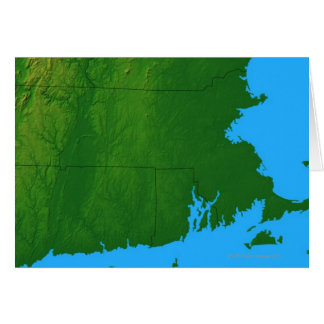 Map of Massachusetts 2 Card