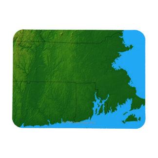 Map of Massachusetts 2 Magnet