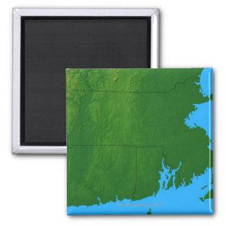 Map of Massachusetts 2 Square Magnet