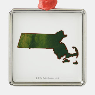 Map of Massachusetts 3 Christmas Ornament