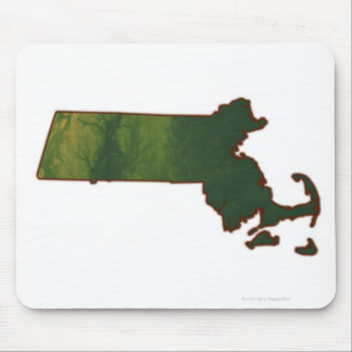 Map of Massachusetts 3 Mouse Mat