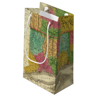 Map of Massachusetts and Connecticut Small Gift Bag