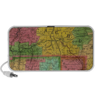 Map of Massachusetts and Connecticut iPod Speaker