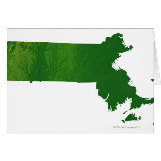 Map of Massachusetts Card