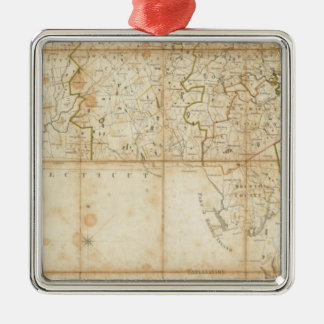 Map Of Massachusetts Christmas Ornament