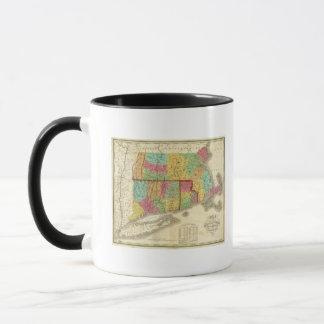Map of Massachusetts Connecticut And Rhode Island Mug