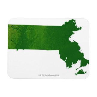 Map of Massachusetts Rectangular Photo Magnet